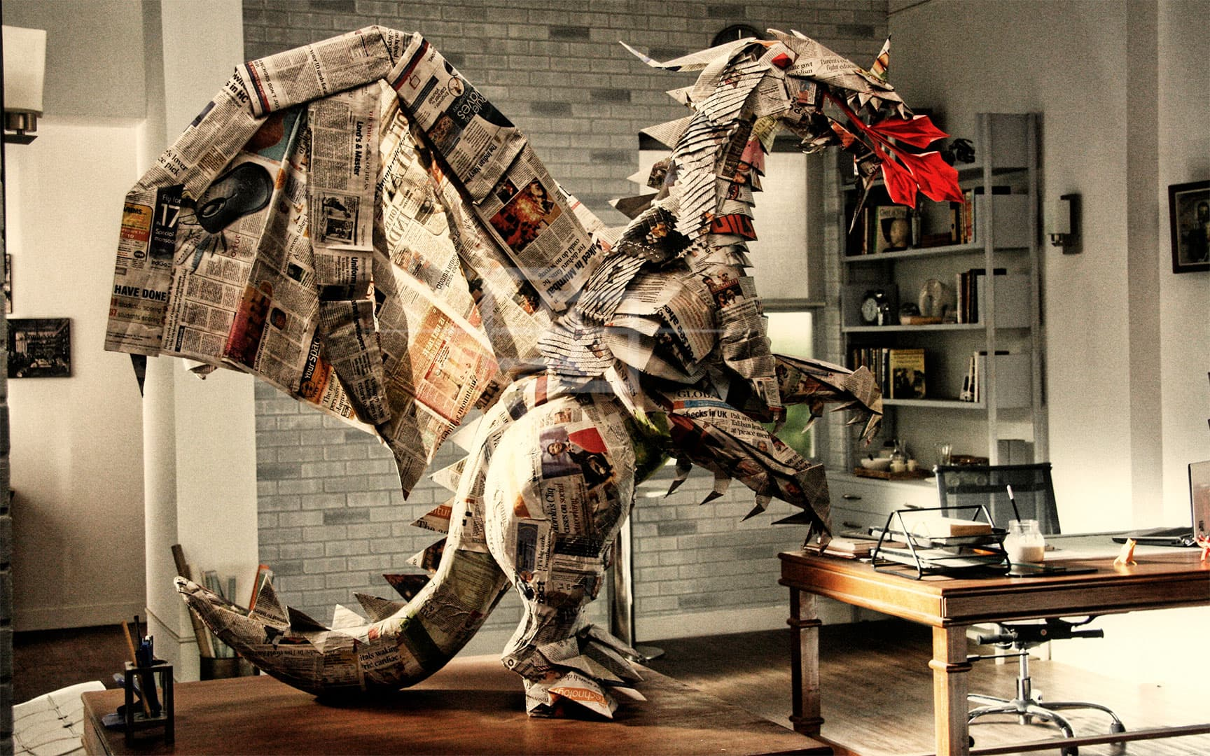 Dell Origami Dragon by Himanshu Mumbai India orukami