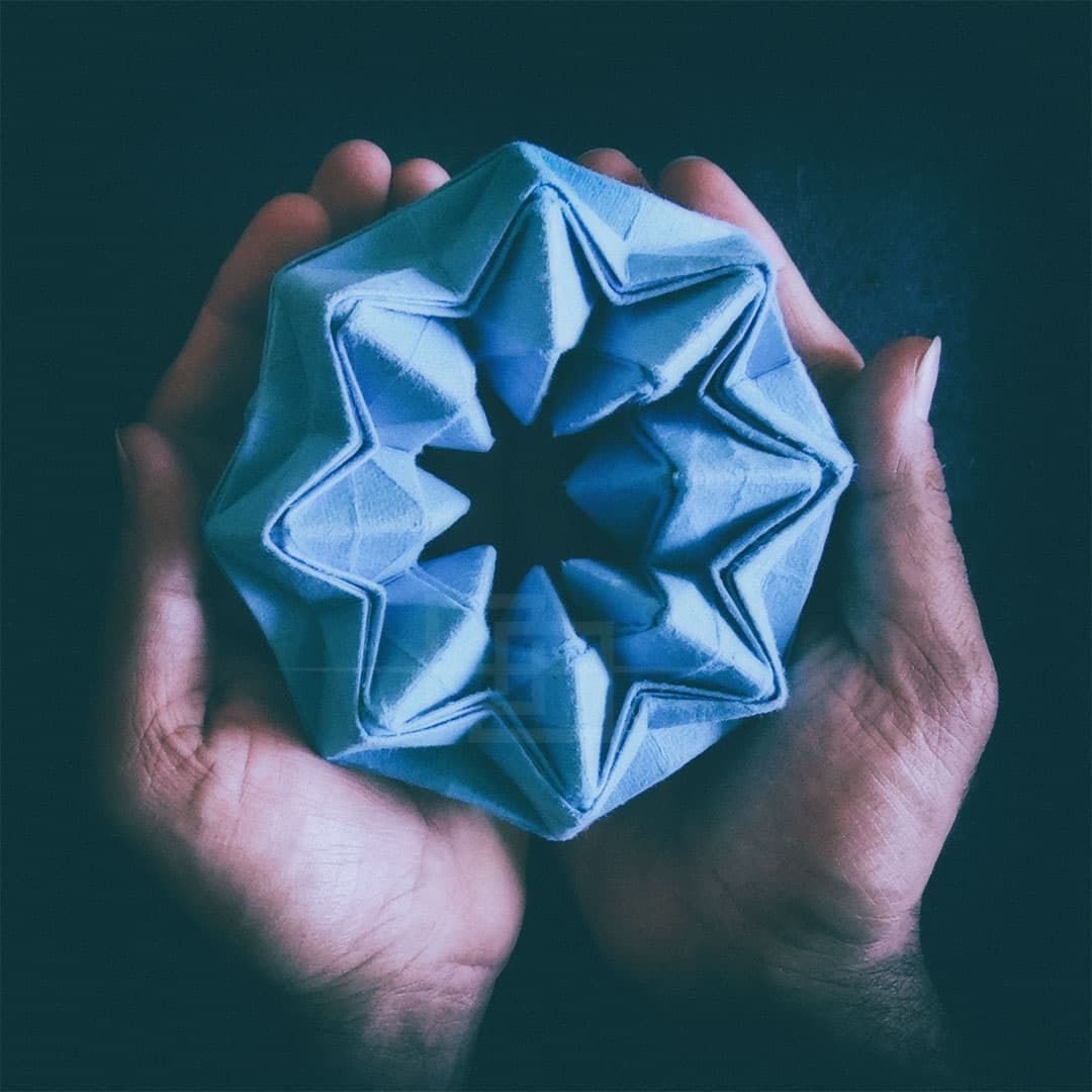 Oriland Origami Magic Star by Himanshu Mumbai India orukami