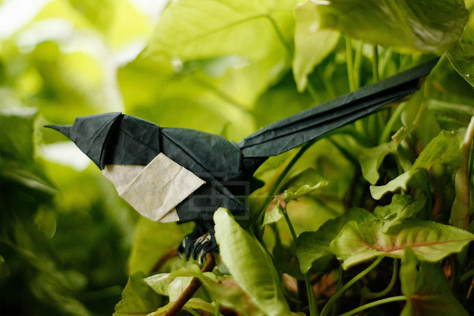 Victoria Serova Origami Magpie by Himanshu Mumbai India orukami